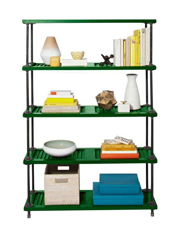 industrial shutter shelving unit