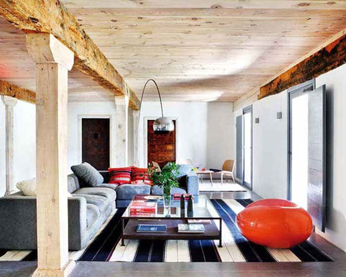 modern rustic decor using color