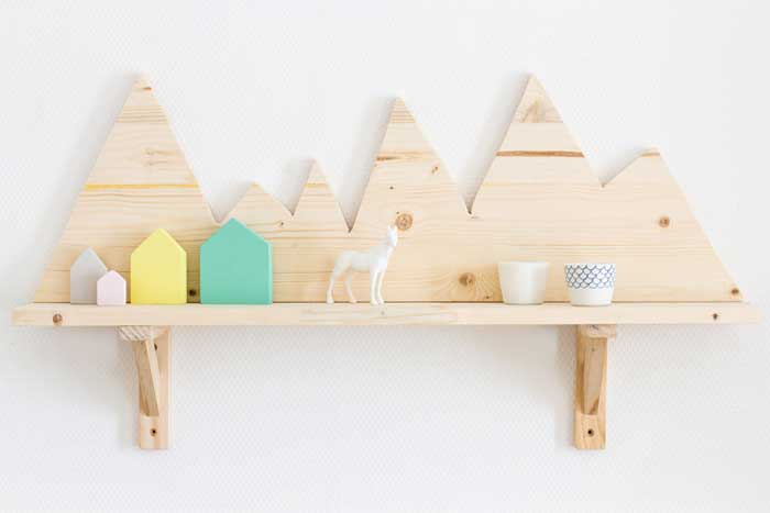 diy mountain range shelf