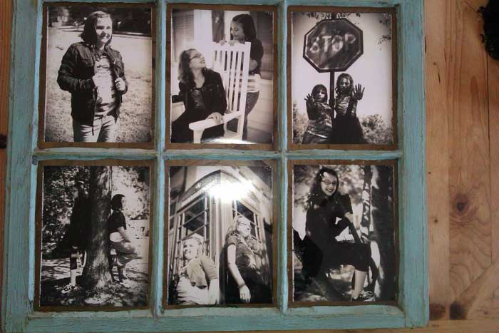 old paned window picture frame
