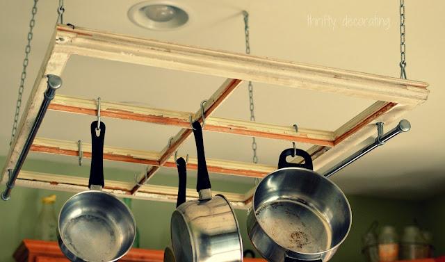 old window pot rack