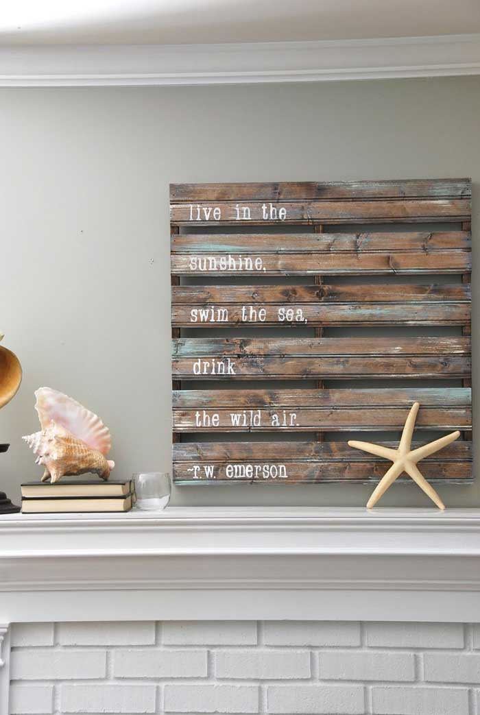 diy pallet sign decor
