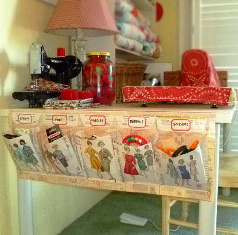 diy craft storage pockets