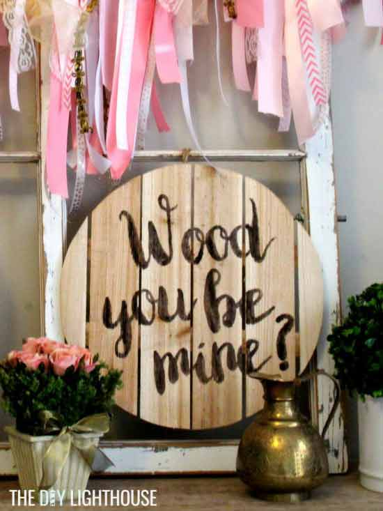 rustic wood sign valentine decor