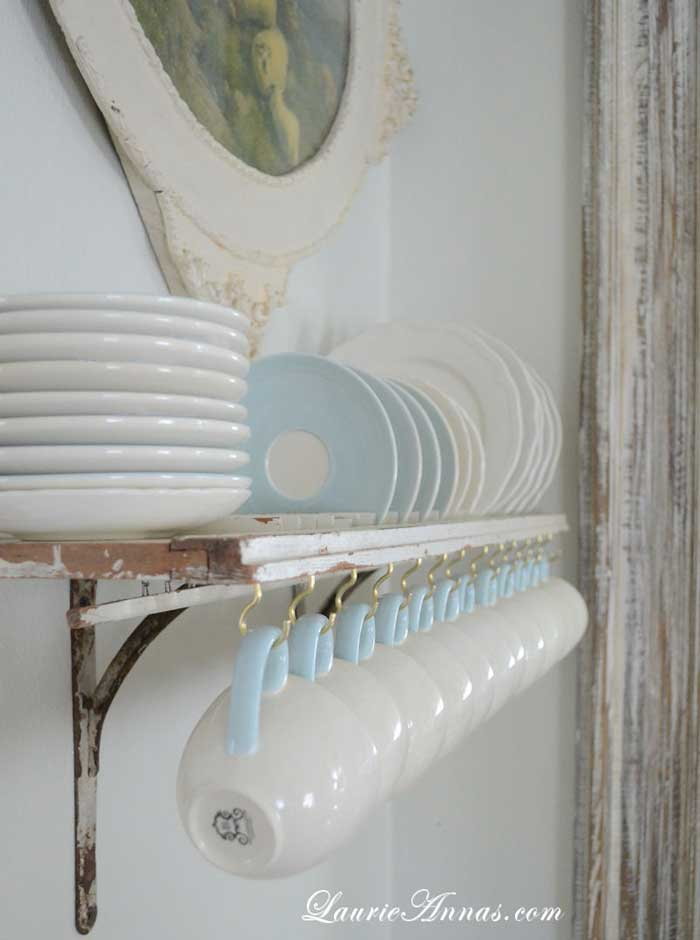 vintage shutters decor plate rack