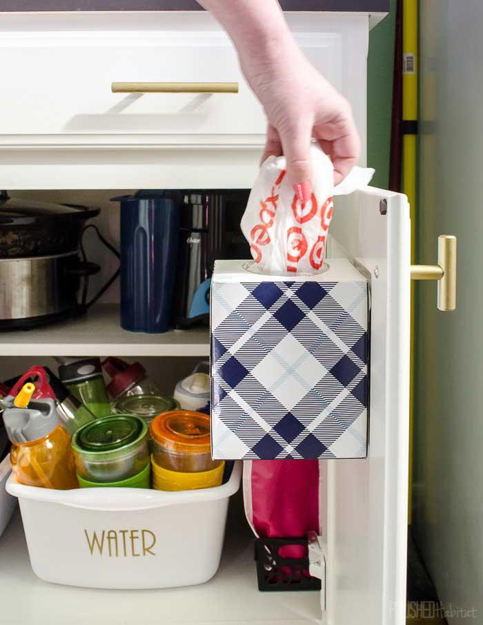 tissue box crafts - bag storage