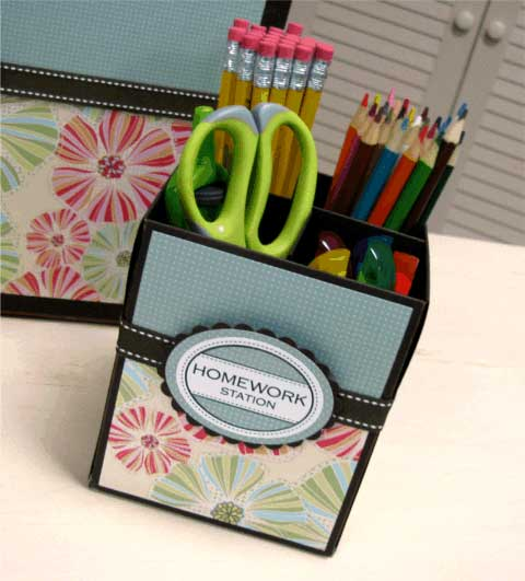 tissue box crafts - office organization