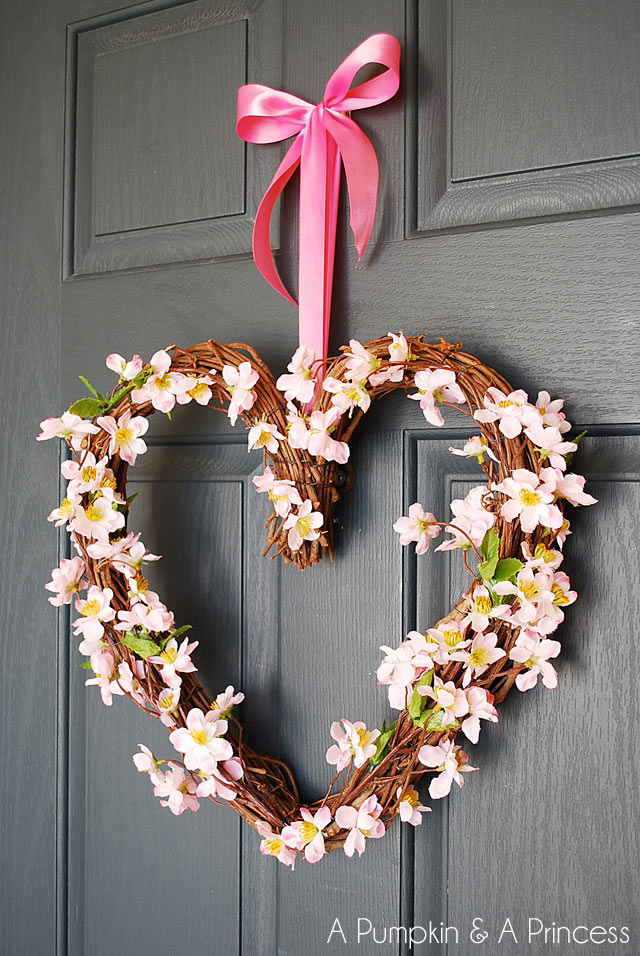 valentine heart grapevine wreath