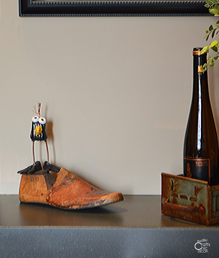 vintage eclectic bird and shoe