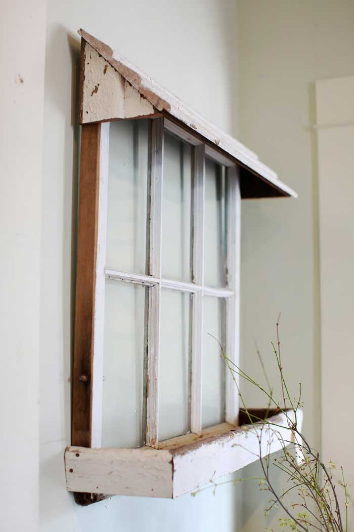 old window with box and awning