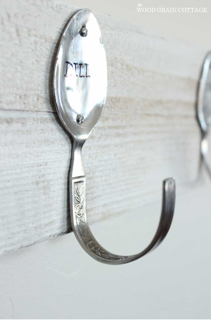 bent spoon wall hook