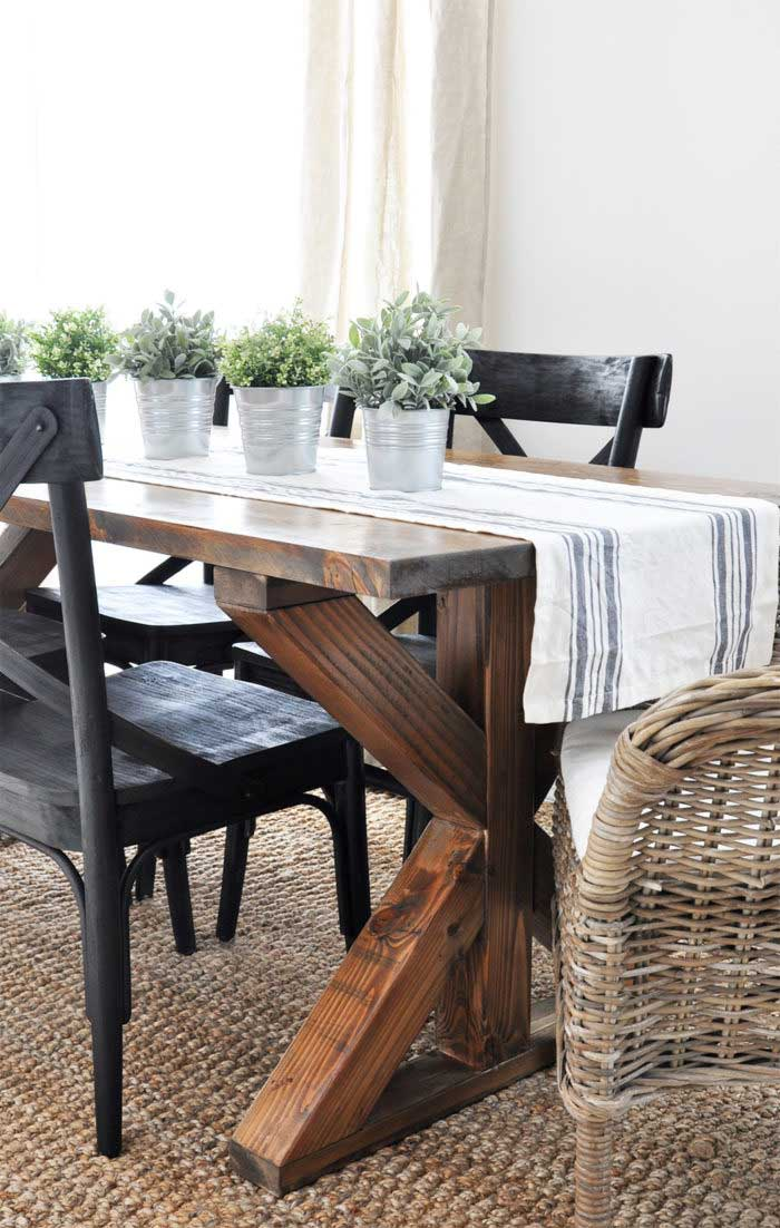 diy x frame farmhouse table
