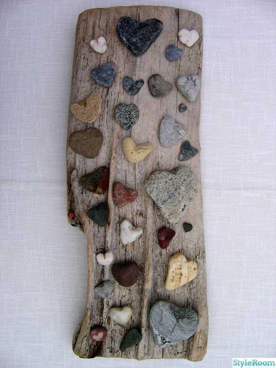 driftwood rock art