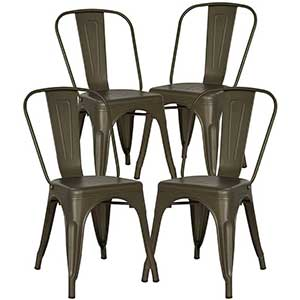 farmhouse metal dining chairs
