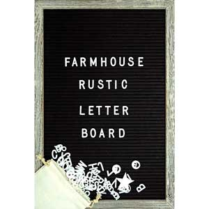 farmhouse rustic letter board