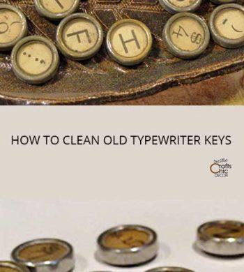 how to clean old typewriter keys