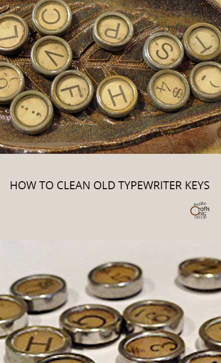 how to clean old typewriter keys