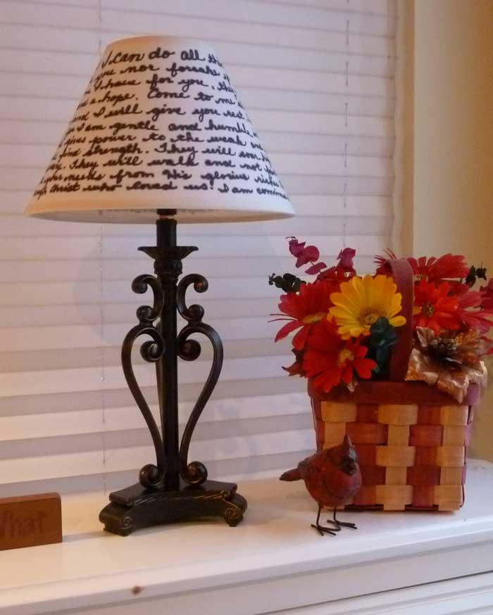 inspirational lampshade