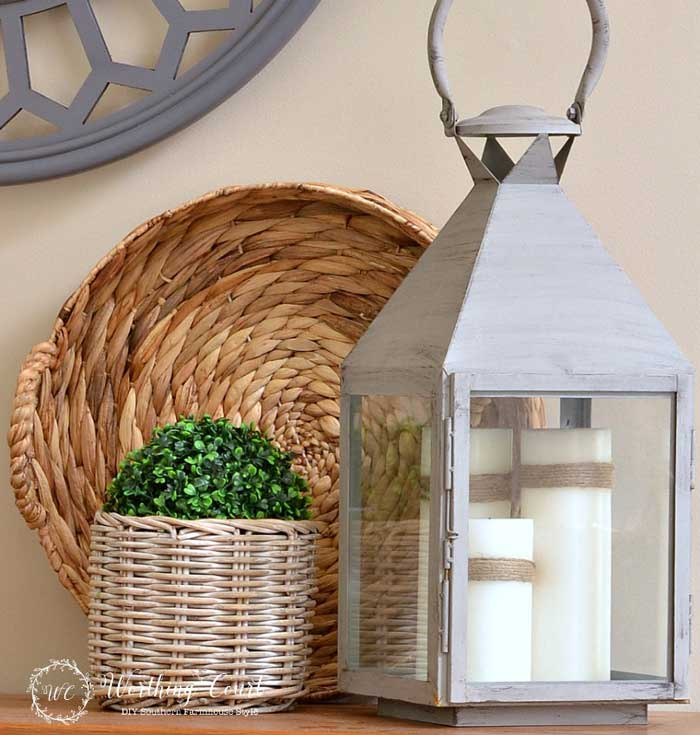 lantern decor with candles