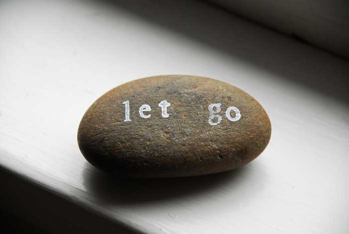 inspirational message on a stone
