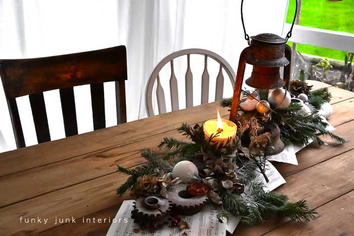 decorating with lanterns at Christmas