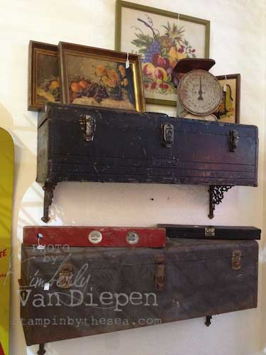 vintage tool box shelf idea
