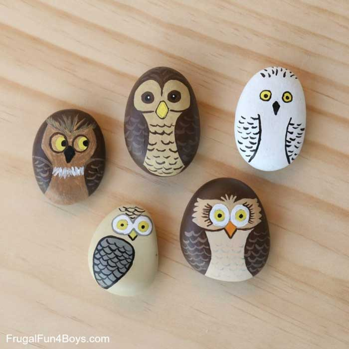 paper weight rock crafts