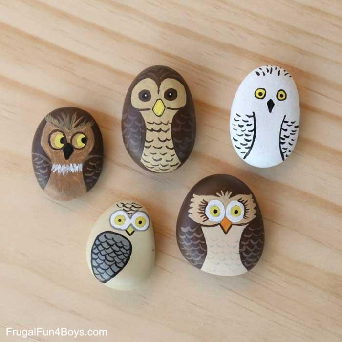 paper weight rock crafts