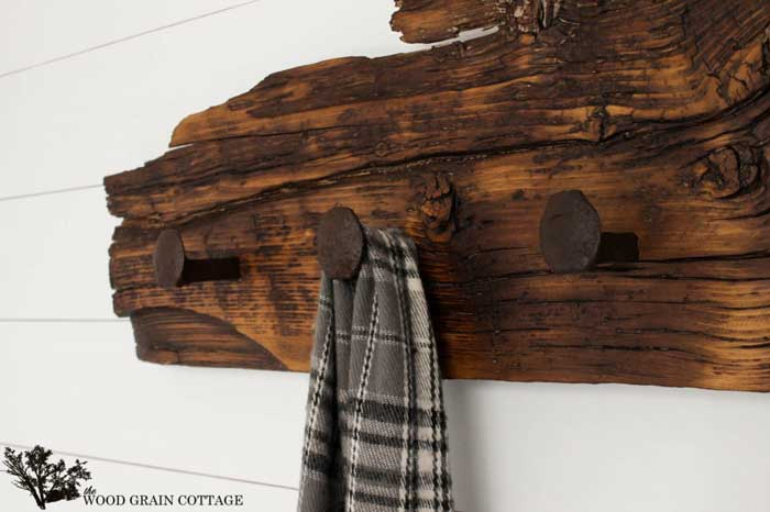 diy railroad spike wall hooks