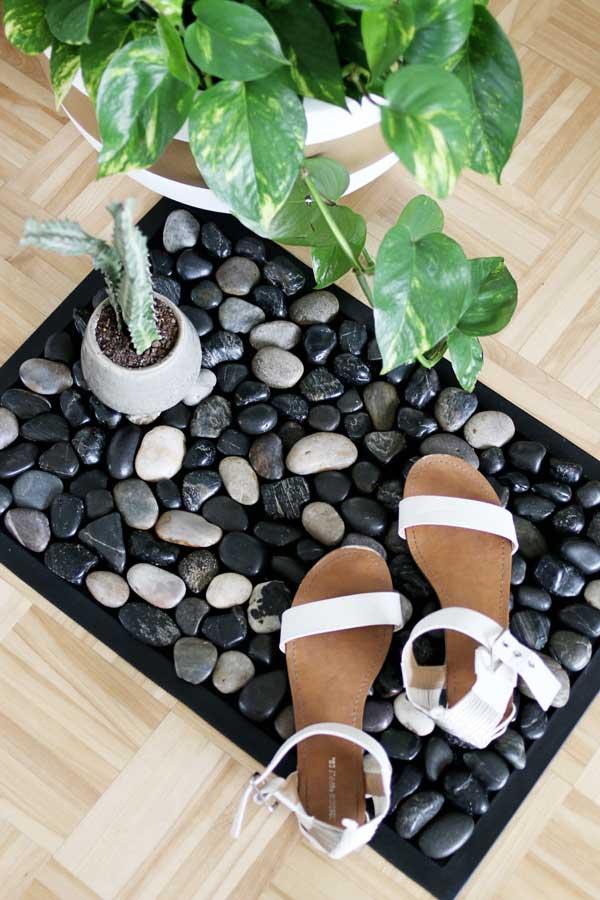 river rock bath mat craft