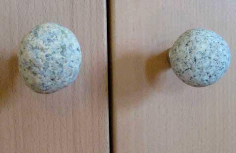 diy rock cabinet knobs