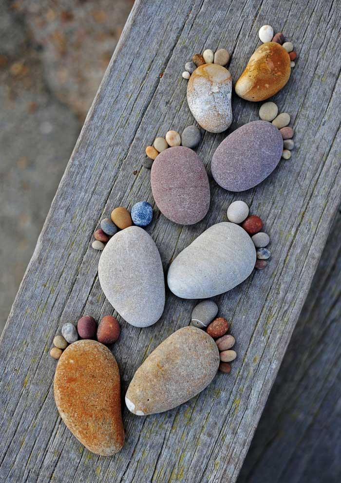 rock crafts - footprint art