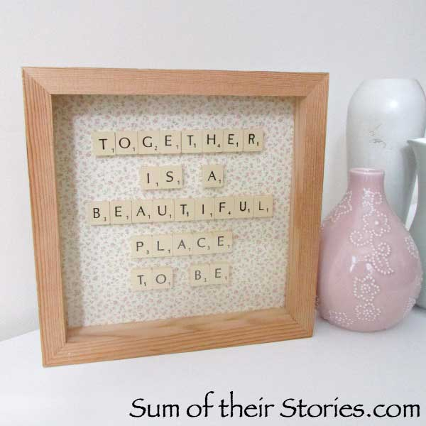scrabble tile Inspirational craft