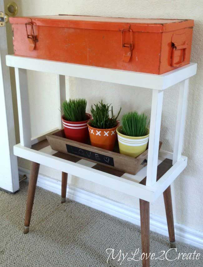 repurposed tool box table