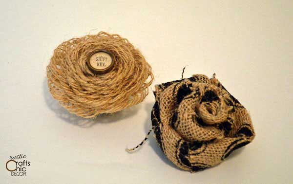 burlap flowers craft