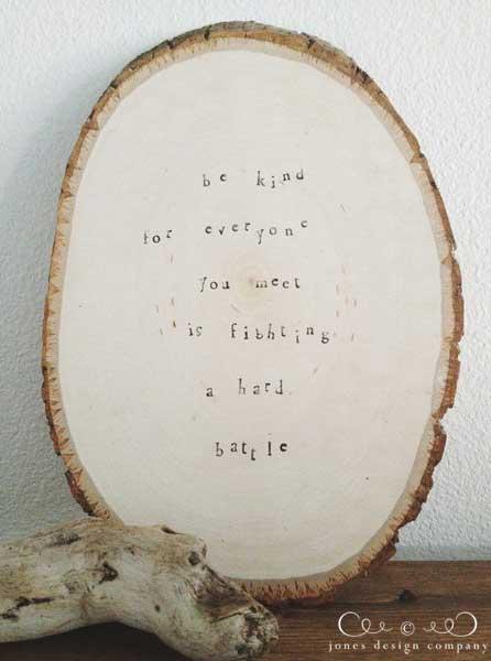 diy wood slice sig