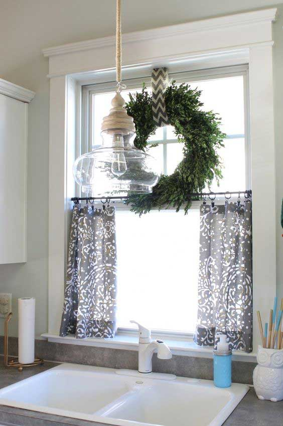wreath window topper