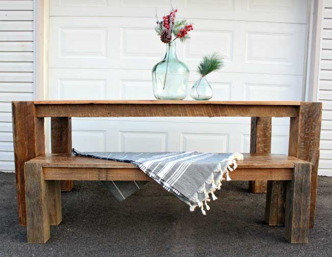 diy barnwood farmhouse dining table