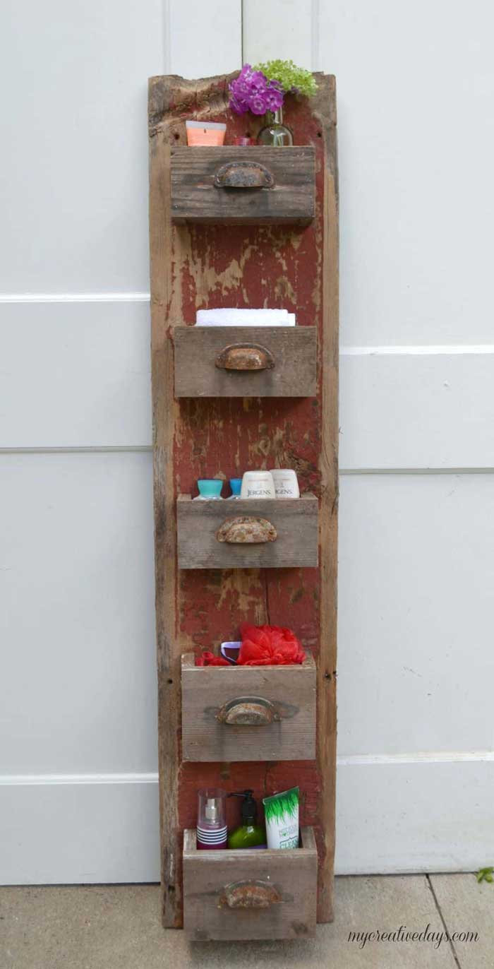 diy barnwood storage bin