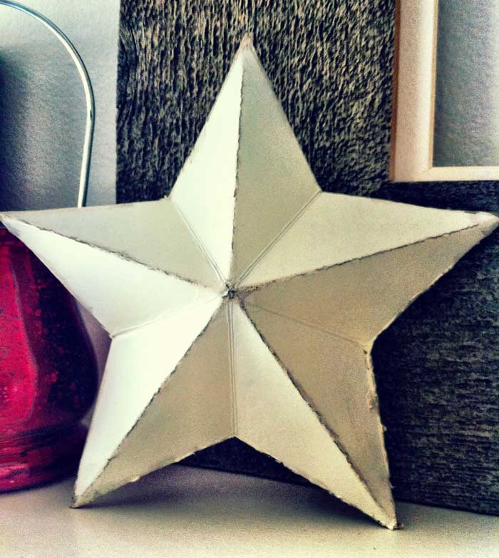 cereal box crafts - 3d star