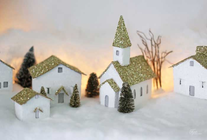 cereal box christmas village