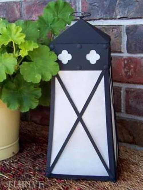 cereal box lantern