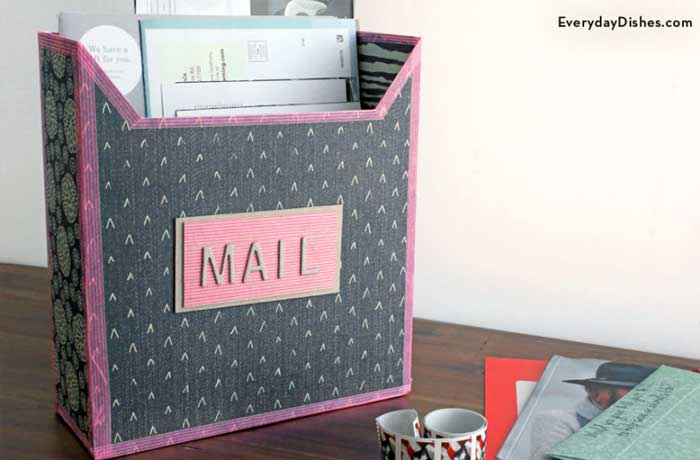 cereal box crafts - mail box
