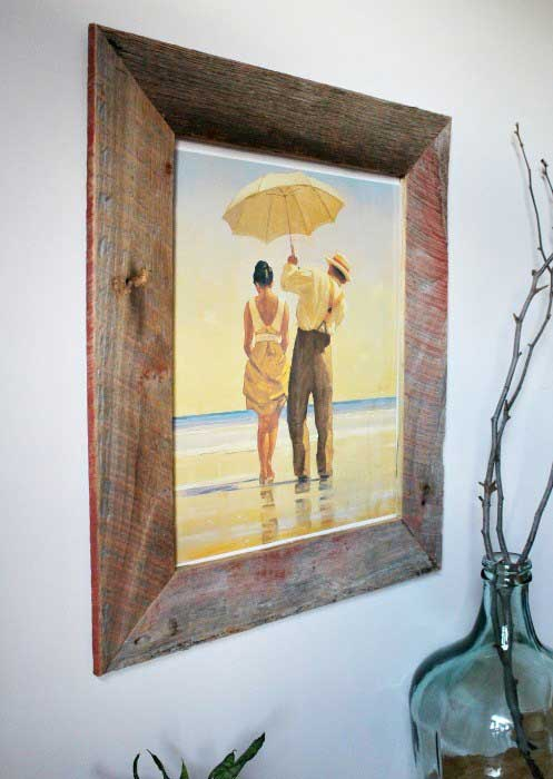 diy barnwood crafts - picture frame