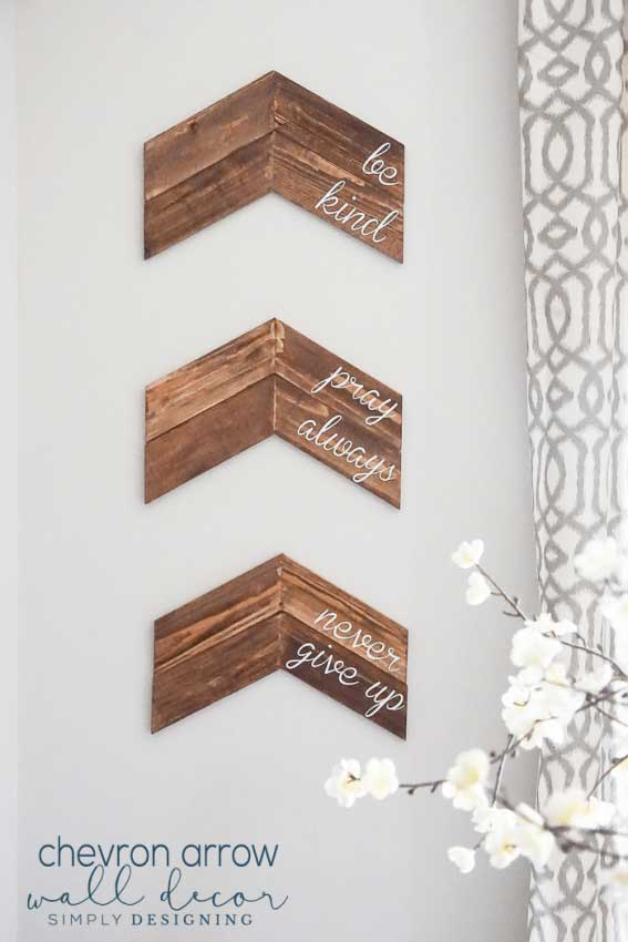 diy chevron arrow wall decor