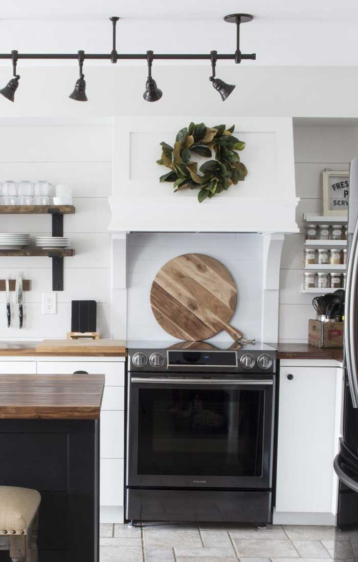 diy custom farmhouse range hood