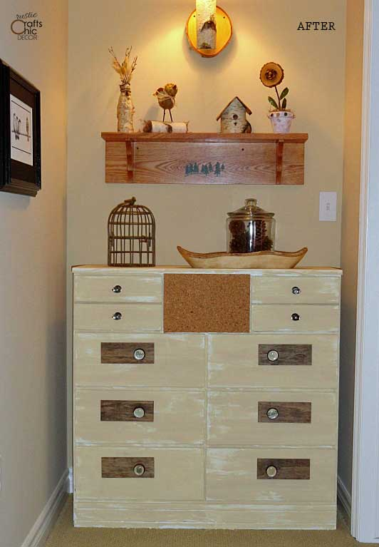 diy dresser makeover idea