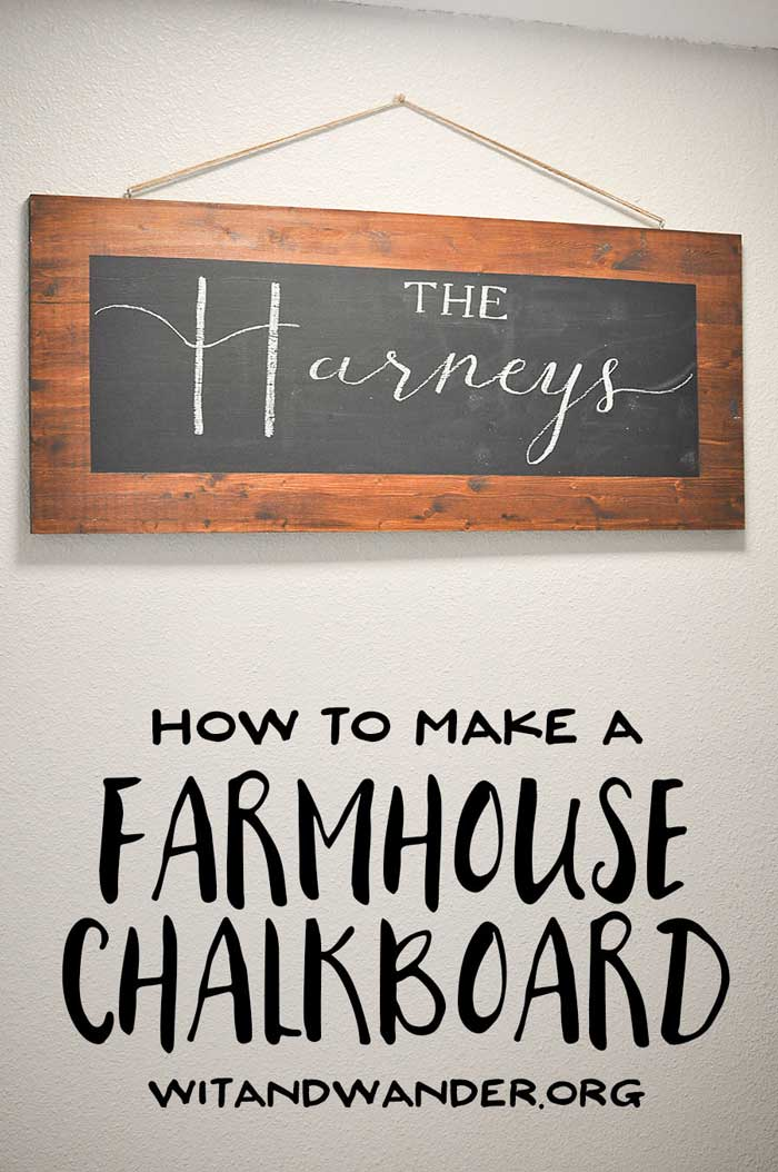 diy farmhouse chalkboard decor