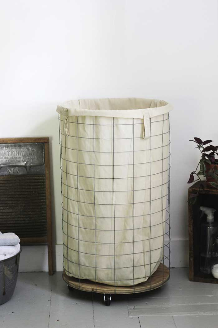 diy farmhouse laundry hamper