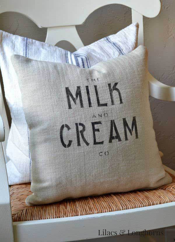 diy grainsack pillow